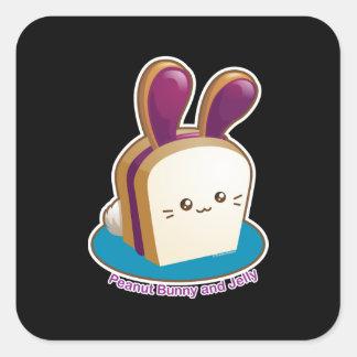 Petits pains de Punny : Lapin mignon de beurre et Sticker Carré