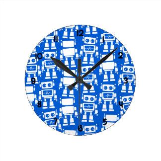 Petits robots horloge ronde