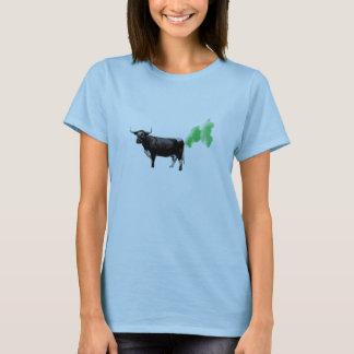 Pets de vache à traitement, réchauffement t-shirt