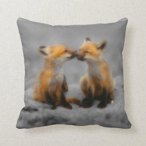 Peu d'amour de Fox Coussin