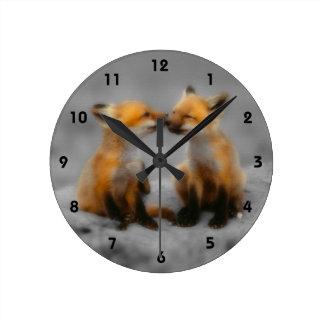Peu d'amour de Fox Horloge Murale