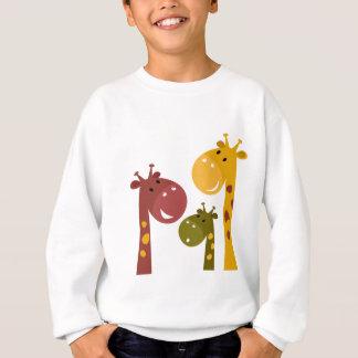Peu d'animaux mignons de bande dessinée sweatshirt