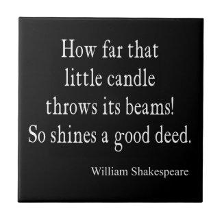 Peu de bougie brille la bonne citation de petit carreau carré
