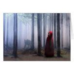 Peu de capuchon rouge Halloween Carte De Vœux