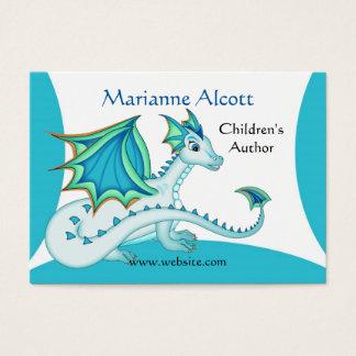 Peu de carte bleue de profil de dragon