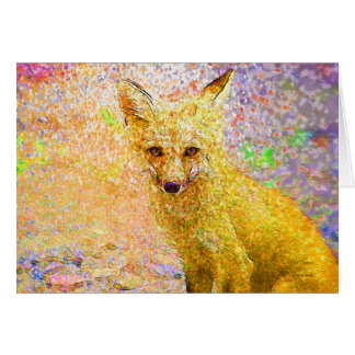Peu de carte d'art de Fox rouge