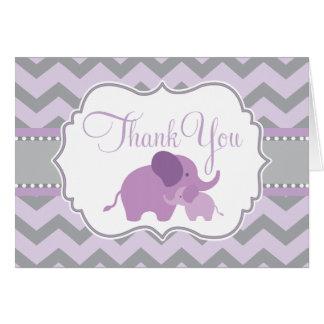Peu de carte de remerciements de baby shower