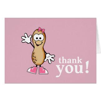 Peu de carte de remerciements (rose) d'arachide