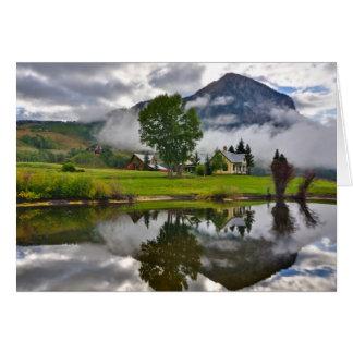 Peu de Chambre en brume sur le lac Carte De Vœux