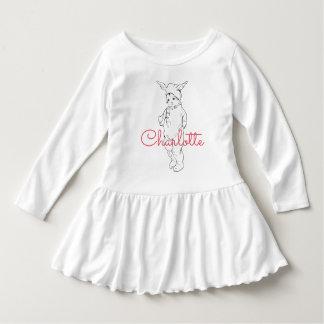 Peu de chemise personnalisée par lapin robe manches longues