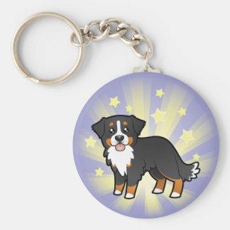 Peu de chien de montagne de Bernese d'étoile Porte-clé Rond