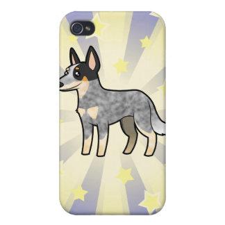 Peu de chien/Kelpie australiens de bétail d'étoile Coque iPhone 4