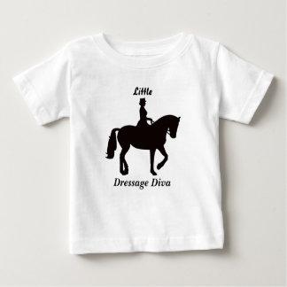 Peu de dessus de diva de dressage t-shirt pour bébé