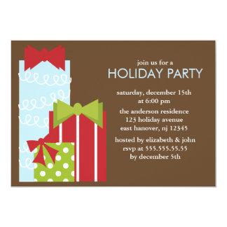 Peu de fête de Noël de présents Carton D'invitation 12,7 Cm X 17,78 Cm
