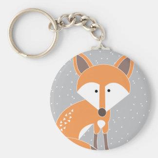 Peu de Fox Porte-clé Rond