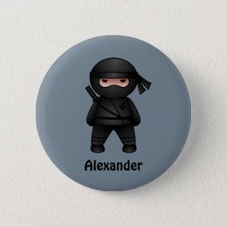 Peu de guerrier de Ninja sur le gris Badges