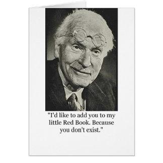 Peu de livre rouge de Jung Carte De Vœux