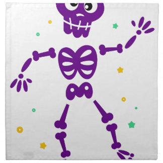 Peu de squelette pourpre mignon de danse serviettes imprimées