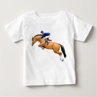 Peu de T-shirt de nourrisson de cheval de pullover