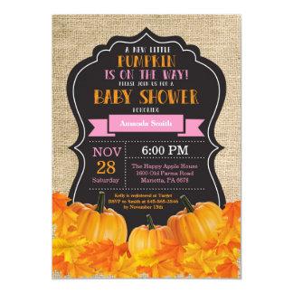Peu de toile de jute de carte d'invitation de baby carton d'invitation  12,7 cm x 17,78 cm
