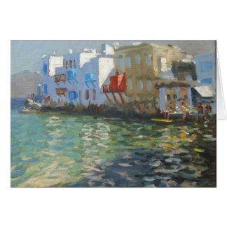 Peu de Venise Mykonos Carte De Vœux