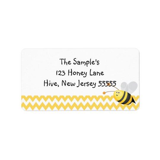 Peu d'étiquettes de miel étiquette d'adresse