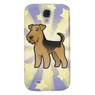 Peu d'étoile Airedale Terrier/gallois Terrier Coque Galaxy S4