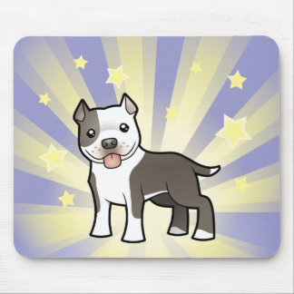 Peu d'étoile Pitbull/Staffordshire Terrier Tapis De Souris