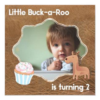 Peu d'image d'anniversaire de Buckaroo deuxième Carton D'invitation 13,33 Cm