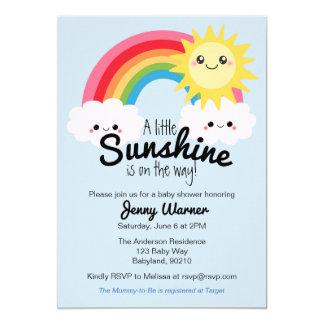 Peu d'invitation de baby shower de soleil carton d'invitation  12,7 cm x 17,78 cm