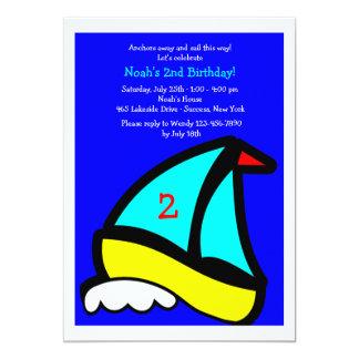 Peu d'invitation de fête d'anniversaire de voilier carton d'invitation  12,7 cm x 17,78 cm