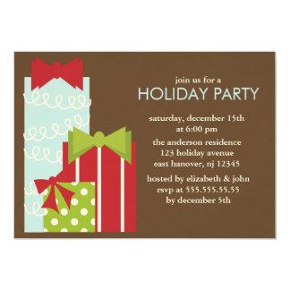 Peu d'invitations de fête de Noël de présents Carton D'invitation 12,7 Cm X 17,78 Cm