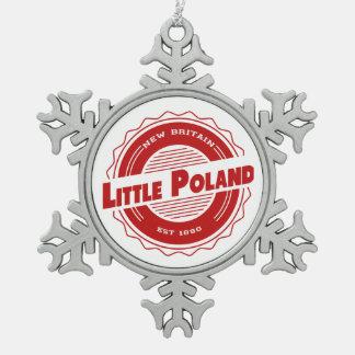 Peu d'ornement de Noël de la Pologne Ornement Flocon De Neige Pewter