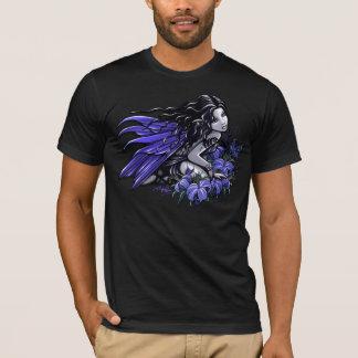 Peu fée bleue de Lilly de papillon de tatouage T-shirt