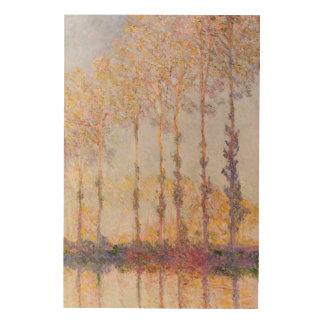 Peupliers de Claude Monet | sur les banques de Impression Sur Bois