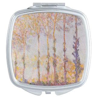 Peupliers de Claude Monet | sur les banques de Miroir De Maquillage