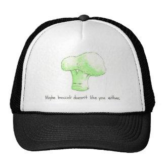 Peut-être le brocoli ne vous aime pas non plus ! casquette trucker