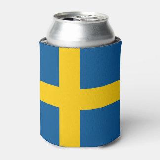Peut le glacière avec le drapeau de la Suède