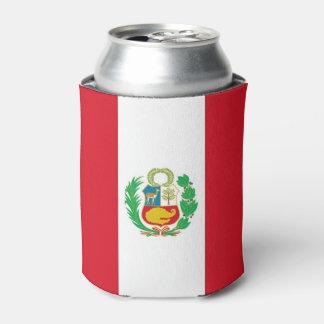 Peut le glacière avec le drapeau du Pérou