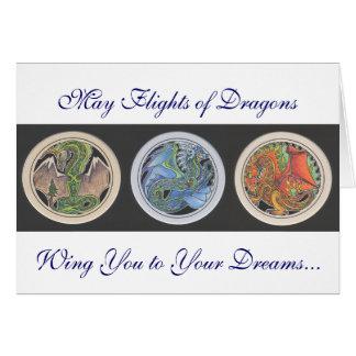 """Peuvent les vols des dragons… "" Carte De Vœux"