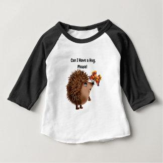 Peux j'avoir une amitié de papillon de hérisson t-shirt pour bébé