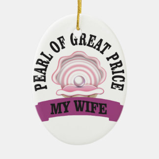 PGP d'épouse ouais Ornement Ovale En Céramique