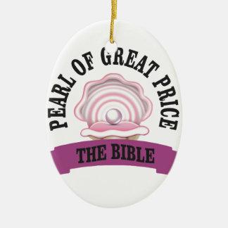 PGP la bible Ornement Ovale En Céramique