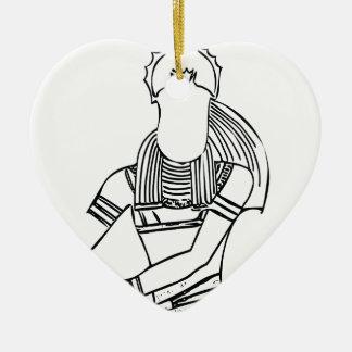 Pharaon 1 de scarabée ornement cœur en céramique