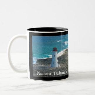 Phare à Nassau en Bahamas sur la tasse de café