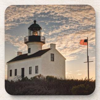 Phare au coucher du soleil, la Californie Dessous-de-verre