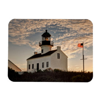 Phare au coucher du soleil, la Californie Magnet Flexible
