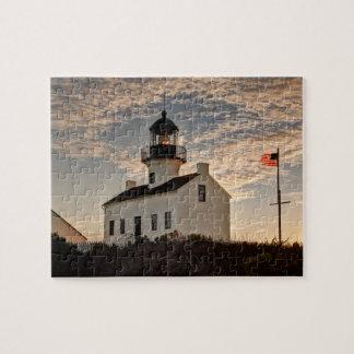 Phare au coucher du soleil, la Californie Puzzle