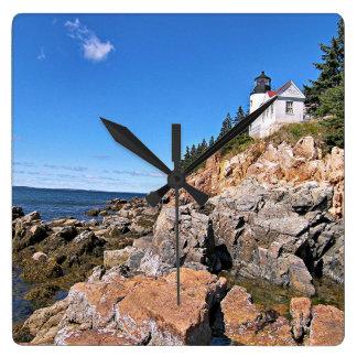 Phare bas de tête de port, horloge murale du Maine