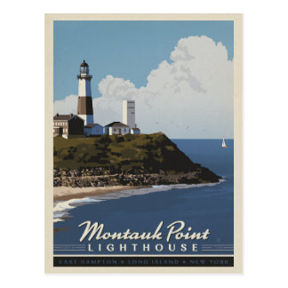 Phare de point de Montauk, LongIsland NY Carte Postale